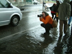 Spencer taking photo