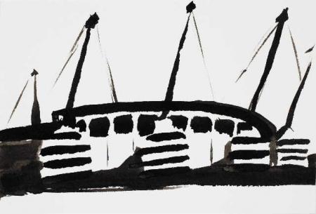 Stadium study(ink no 1)