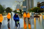 Cyclists in the Rain, Beijing