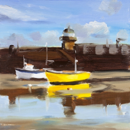 Yellow Boat - St Ives
