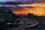 Mancunian Way Sunset
